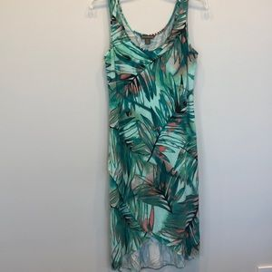 Tommy Bahama green leaf sundress Small